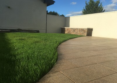 rollout grass quartz walling and yellow granite paving3