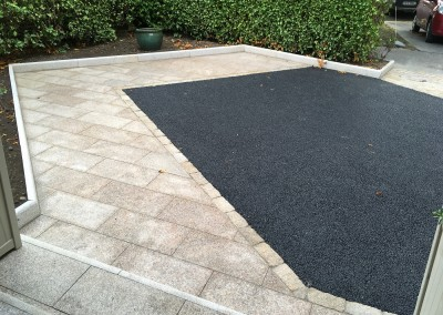 tarmac and yellow granite path
