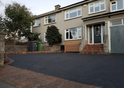 tarmac driving and cobblelock steps