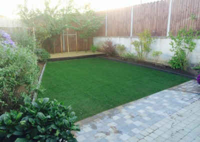 artificial grass after