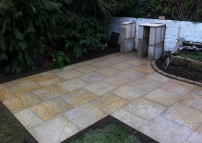 yellow granite patio