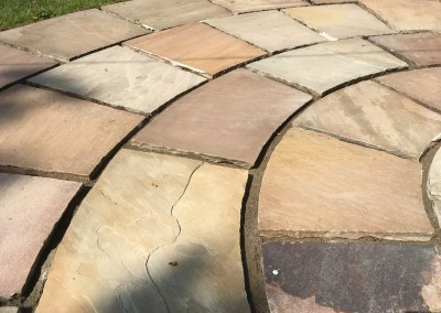 Indian sandstone before repainting