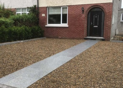 silver granite and pebble driveways